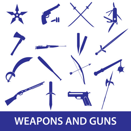 weapons and guns icons eps10 Stock Vector - 25508834