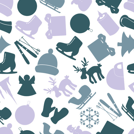 winter icons color pattern eps10 Vector