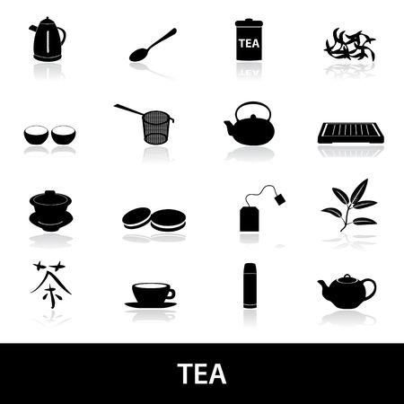 tearoom: tea icons eps10