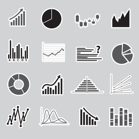 valorization: graphs stickers eps10