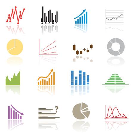 valorization: color graphs variations eps10 Illustration