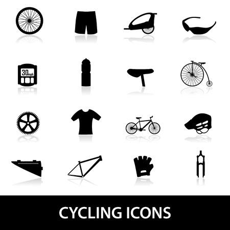 biking glove: cycling icons eps10