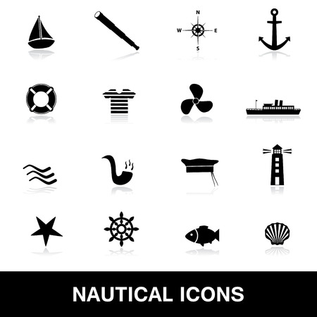 nautical icons eps10 Vector