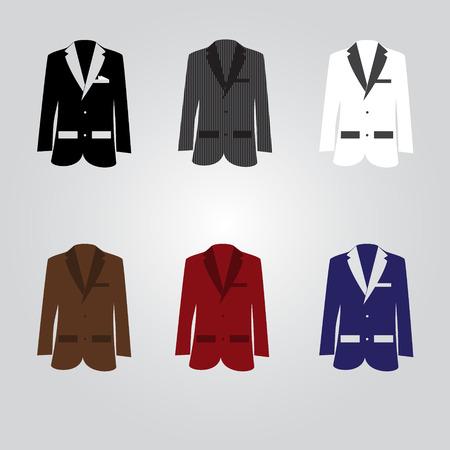 frock coat: variation of suits eps10 Illustration