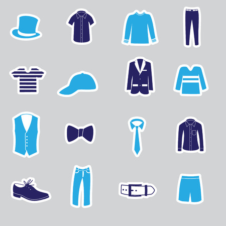 men's clothing: mens clothing stickers eps10