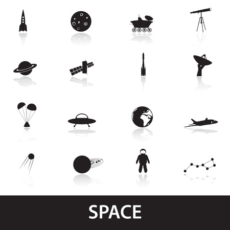 moon rover: space icons eps10