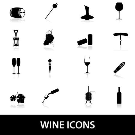 cork screw: wine icons eps10