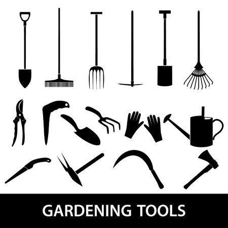 ewer: gardening tools icons eps10 Illustration