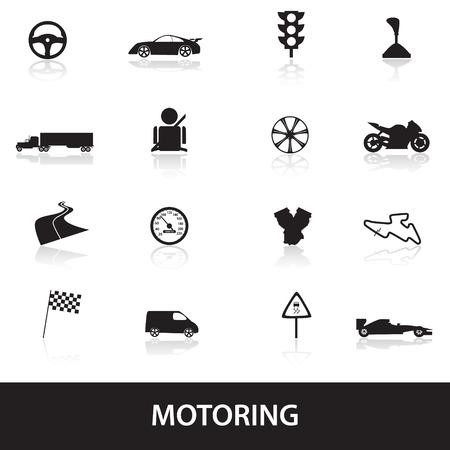 motoring icons Vetores