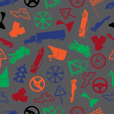 speeder: automotive colorful pattern  Illustration