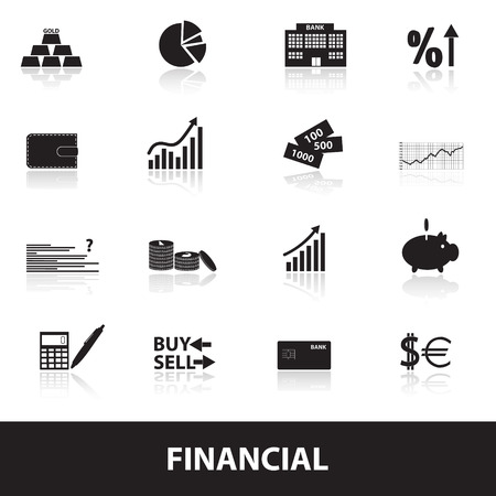 stock illustration: financial and money icons