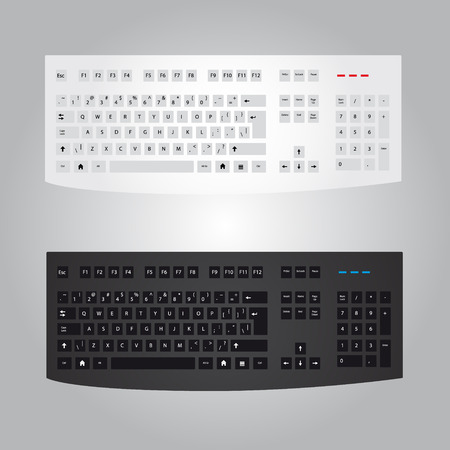 escape key: black and white computer keyboard