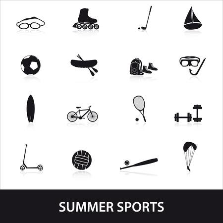 fortalecimiento: Deportes de verano y del icono del equipo conjunto