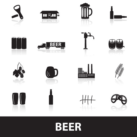 beer icons  Illustration