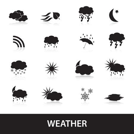 weather symbols: weather symbols  Illustration