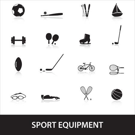 fortalecimiento: material deportivo Vectores