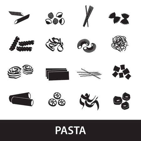 types of pasta food  Vector
