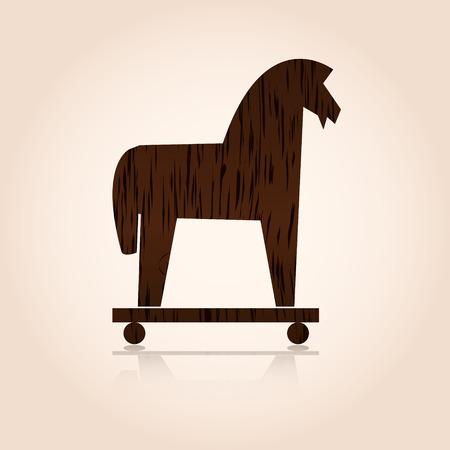 wood trojan horse  Illusztráció
