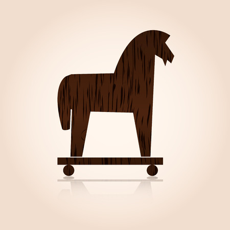 wood trojan horse  Иллюстрация