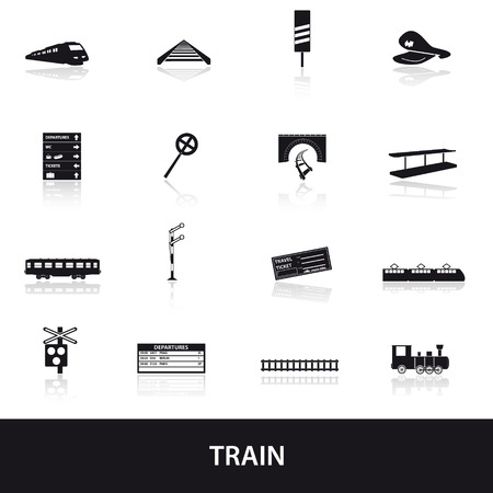 steam train: train and railway icons