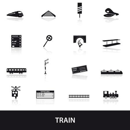 train and railway icons 版權商用圖片 - 27886103