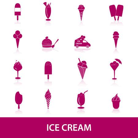 ice cream icons Reklamní fotografie - 27886114