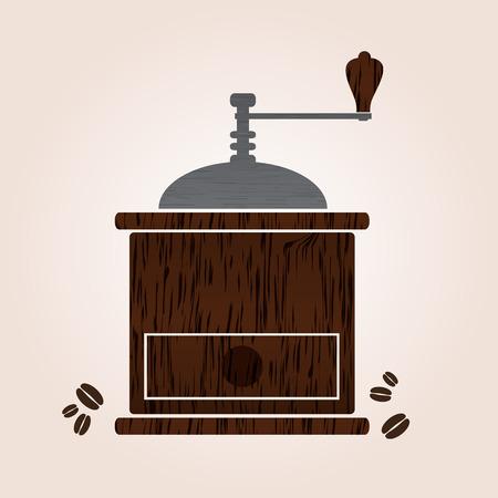 macinino caffè: coffee grinder legno eps10