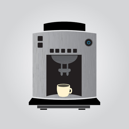 silver coffeemaker espresso machine Illustration