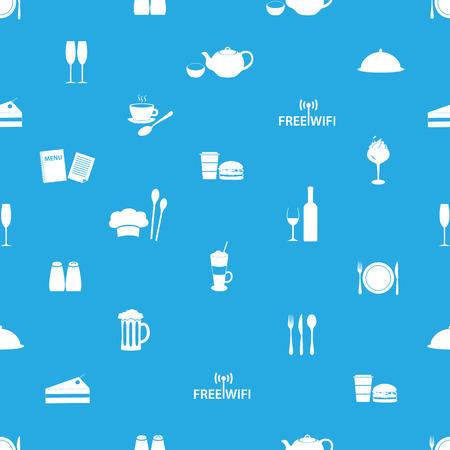 salt free: restaurant and pub seamless pattern