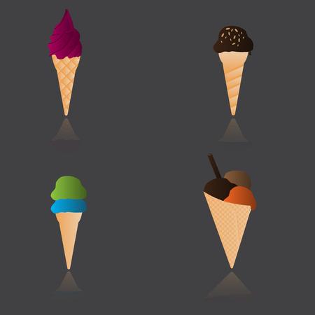 ice cream types Reklamní fotografie - 28793968