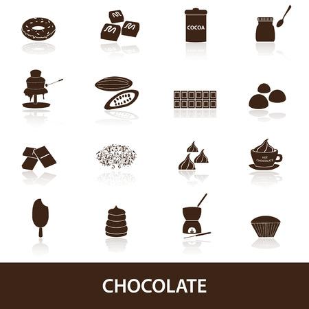 chocolate truffle: chocolate icons set