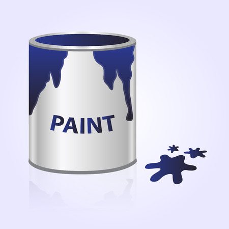 """""""paint can"""": paint can blue"""