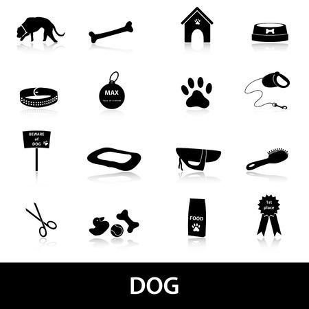 mamal: dog icons set  Illustration