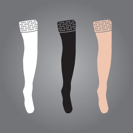legs stockings: tre tipi di donna, calze