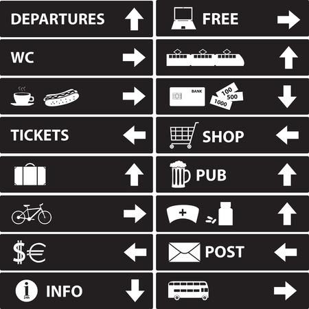 various navigation signs  Vector