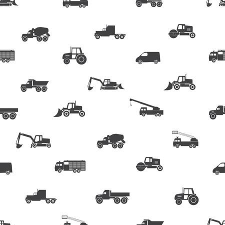 heavy: heavy machinery icons set