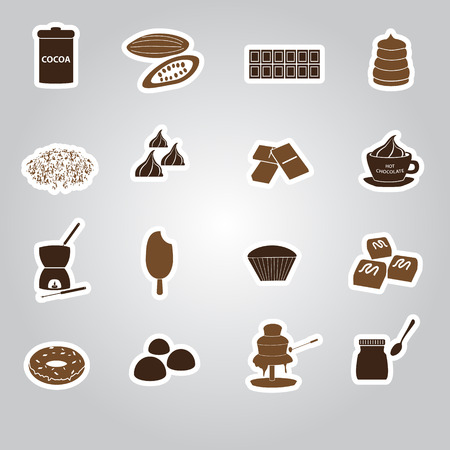 chocolate stickers set