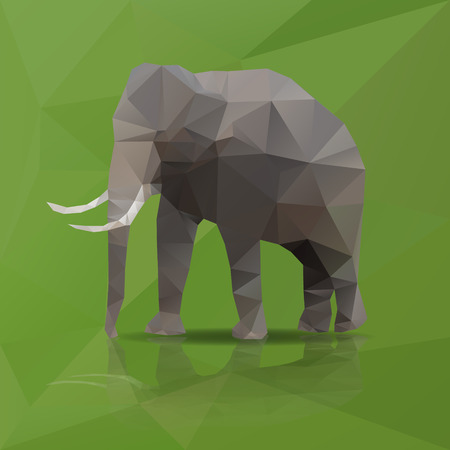 big elephant from triangles eps10 Vector