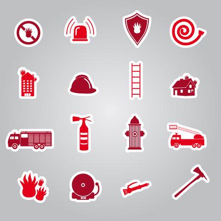 brigade: fire brigade stickers set