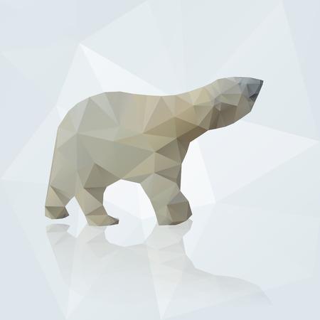 polar bear from triangles Vector