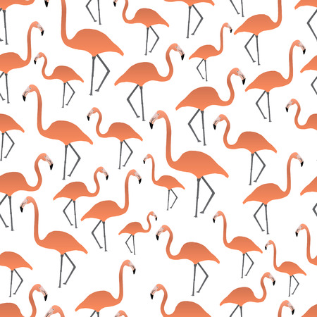 flamingi: flamingi szwu Ilustracja