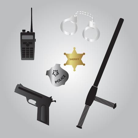 police equipment: police equipment icon Illustration