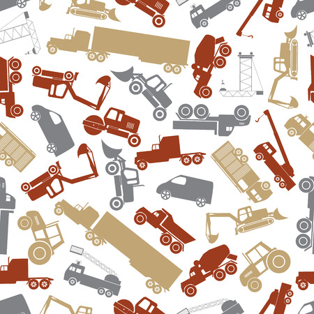 heavy machinery: heavy machinery color seamless pattern Illustration