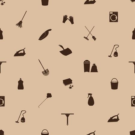 청소 아이콘 원활한 패턴