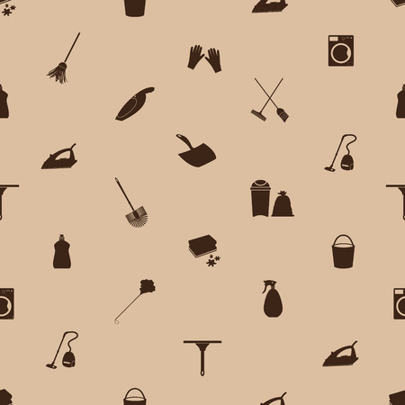 cleaning icons seamless pattern 向量圖像