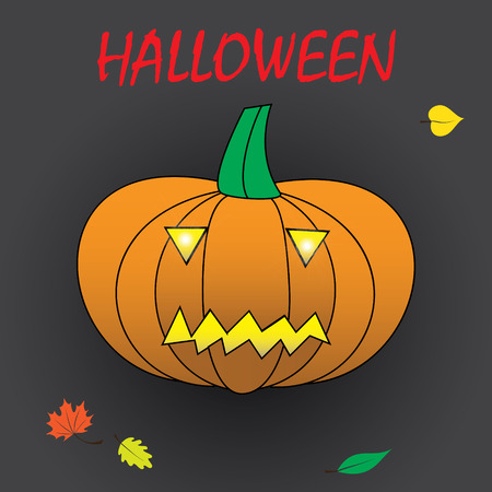 carved pumpkin: Halloween carved pumpkin