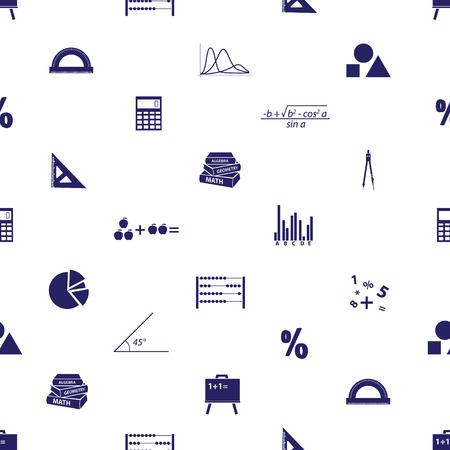 numerate: mathematics icons seamless pattern
