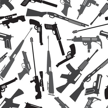 총기 무기 및 총 원활한 패턴 일러스트