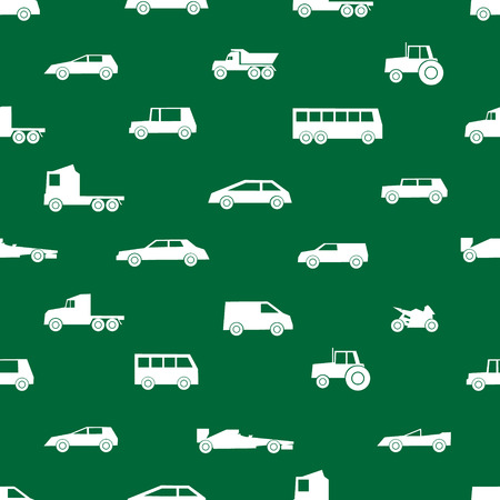 speedster: simple cars black silhouettes icons pattern