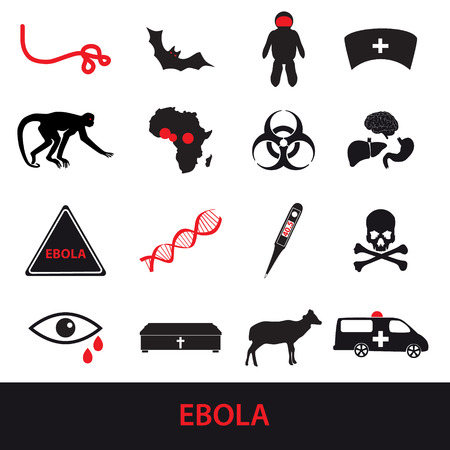 ebola: ebola disease icons set  Illustration
